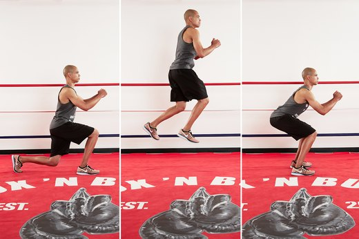 2. Lunge Jumps