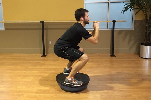 Squat Variation #1: Add a BOSU Ball