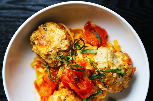 4. Spaghetti and Turkey Meatballs