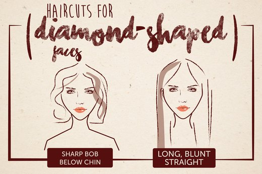 Haircuts for Diamond-Shaped Faces