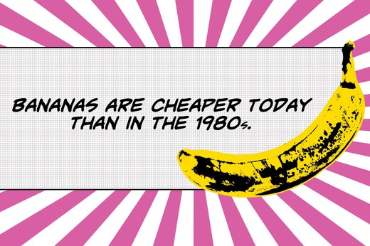 4. Banana Prices Have Decreased 37 Percent Since 1980