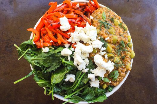 5. Savory Greens and Goat Cheese Oatmeal Bowl