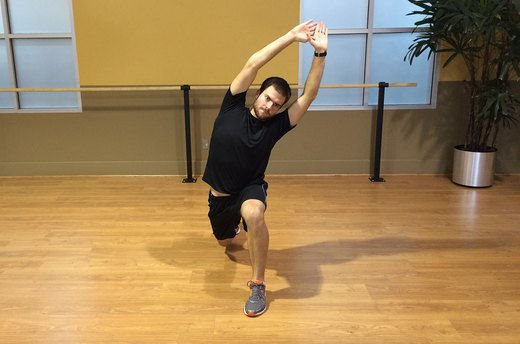 Lunge Variation #1: Add a Side Stretch