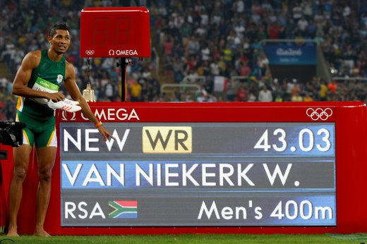 8. Van Niekerk Crushes Michael Johnson's 400m Record