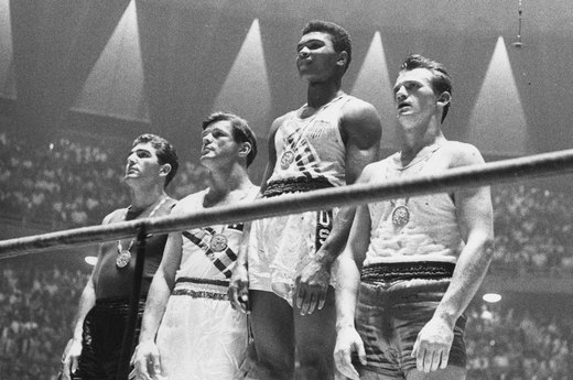 12. Cassius Clay (Muhammed Ali) Enchants the World (1960 Rome)