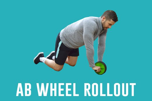 6. Ab Wheel Rollout