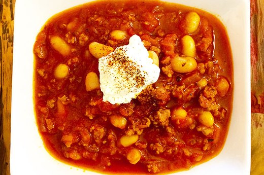 4. Chipotle Chorizo White Bean Chili