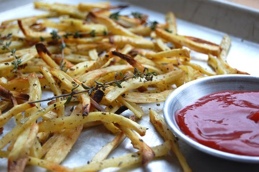 9. Roasted Herb Parsnip Fries With Spicy Ketchup