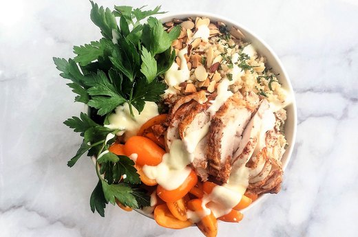 8. Middle Eastern Chicken Bowl