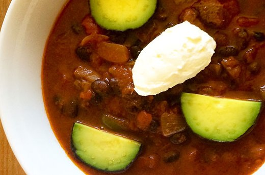 2. Slow Cooker Beef Shank and Black Bean Chili