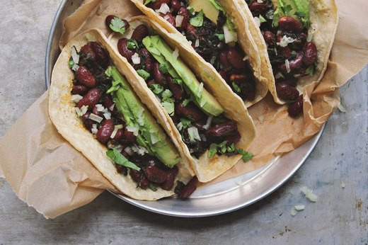 9. Beans and Greens Tacos