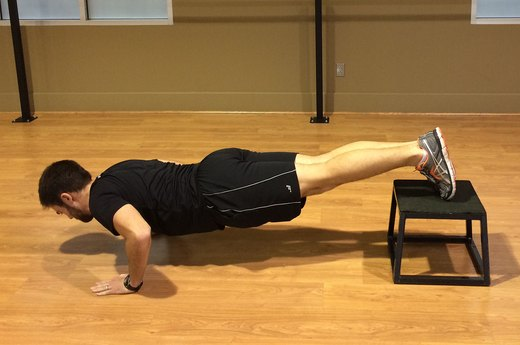 Push-Up Variation #1: Elevate Feet With a Box
