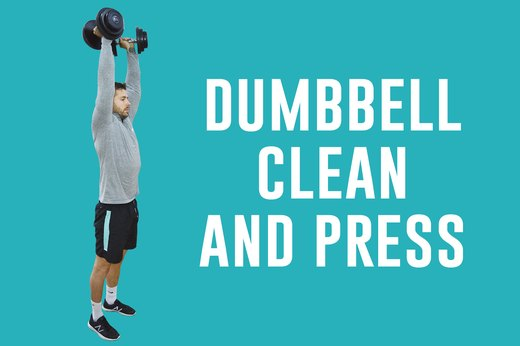 5. Dumbbell Clean and Press