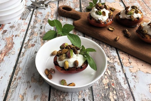 Pan-Grilled Nectarine Sundae Cups