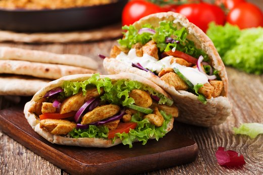4. Chicken Flatbread Pita Sandwich