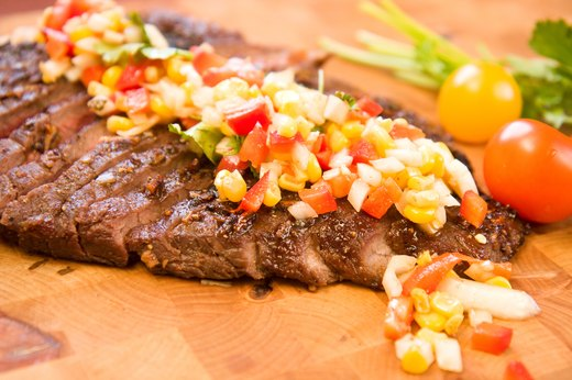 2. Charred Corn Salsa With Grilled Steak