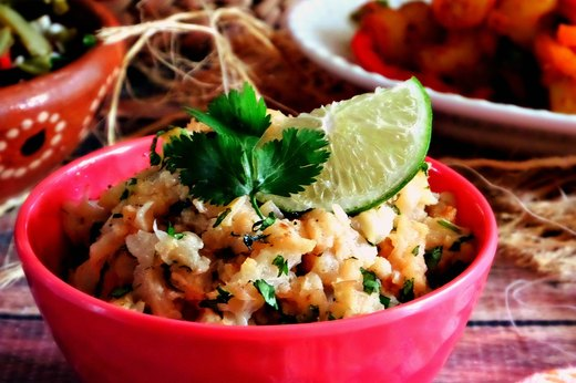 7. Cilantro-Lime Cauliflower Rice