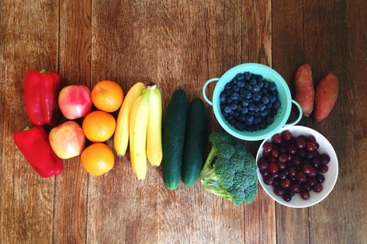 1. Eat a Rainbow of Fruits and Vegetables