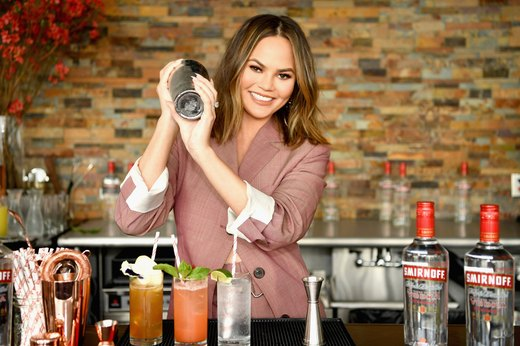 4. Chrissy Teigen: Vodka Soda
