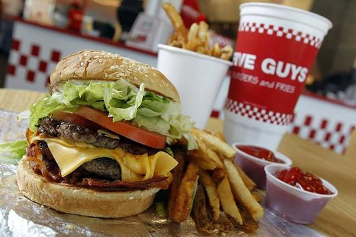 8. Cheeseburger at Five Guys