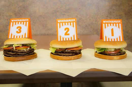 6. Triple Meat Whataburger