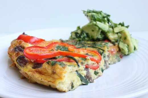 Fajita Frittata With Avocado Sauce