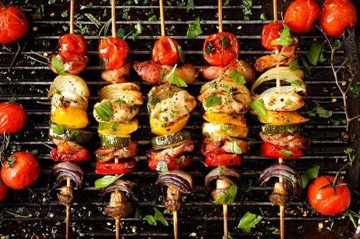 7. Vegetable Skewers