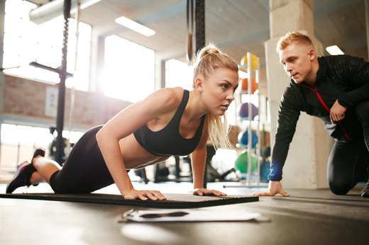 8. Book just one session with a personal trainer.